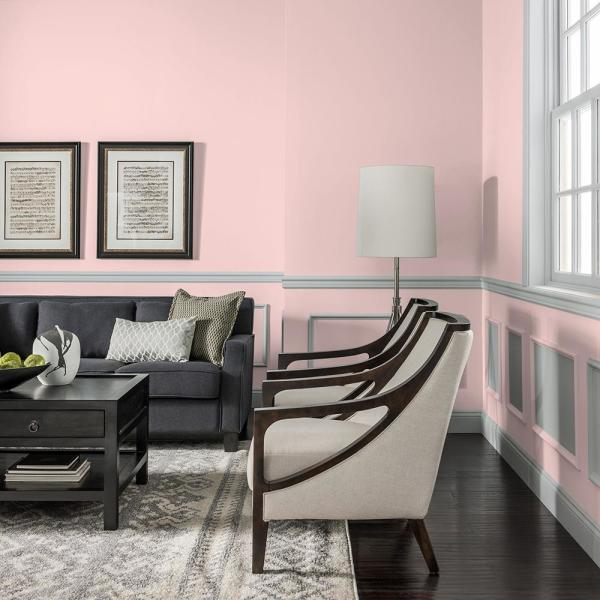 Reviews For Ppg Diamond 1 Qt Ppg1187 2 Lady Pink Satin Interior Paint With Primer Ppg1187 2d 04sa The Home Depot