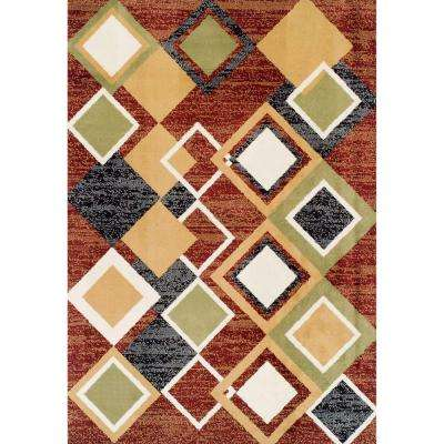 Ferrera Collection Argyle Multi 5 ft. x 8 ft. Area Rug
