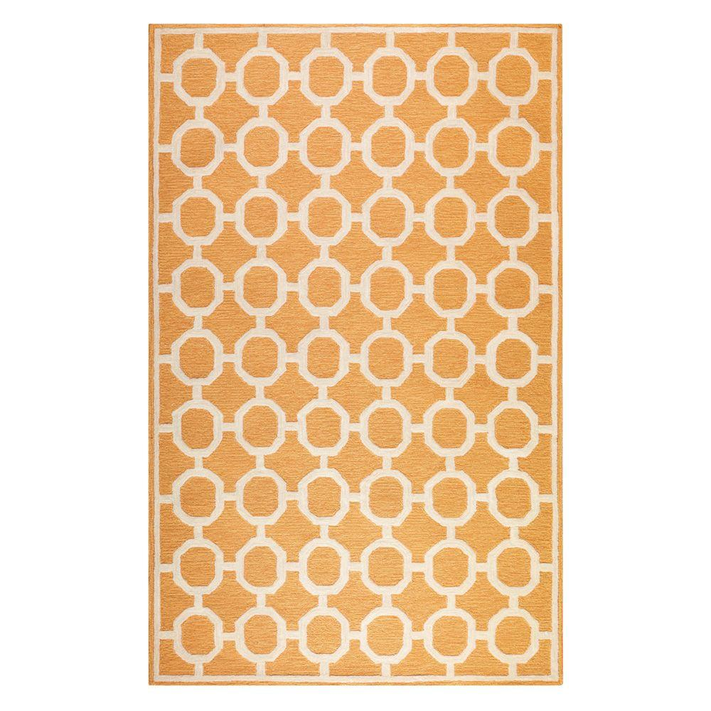 Home Decorators Collection Espana Orange 7 ft. 6 in. x 9 ft. 6 in. Area Rug