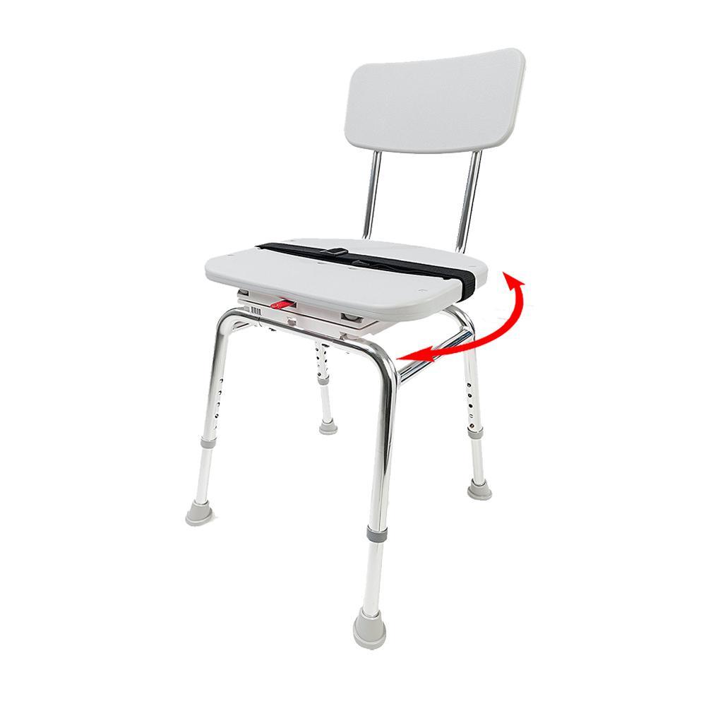 Swivel Shower Chair - 300 lb. Weight Capacity - Heavy-Duty Shower Bathtub Chair