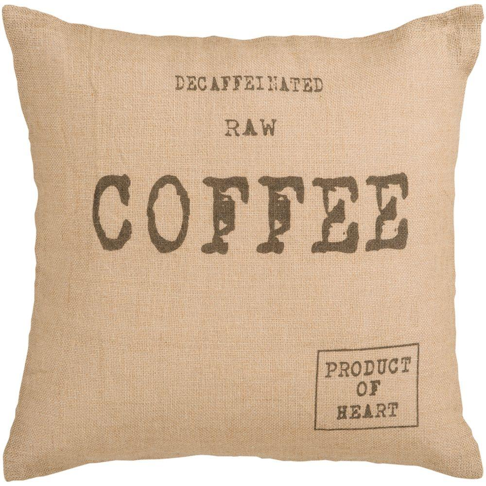 Artistic Weavers Coffee 22 in. x 22 in. Decorative Down Pillow-DISCONTINUED