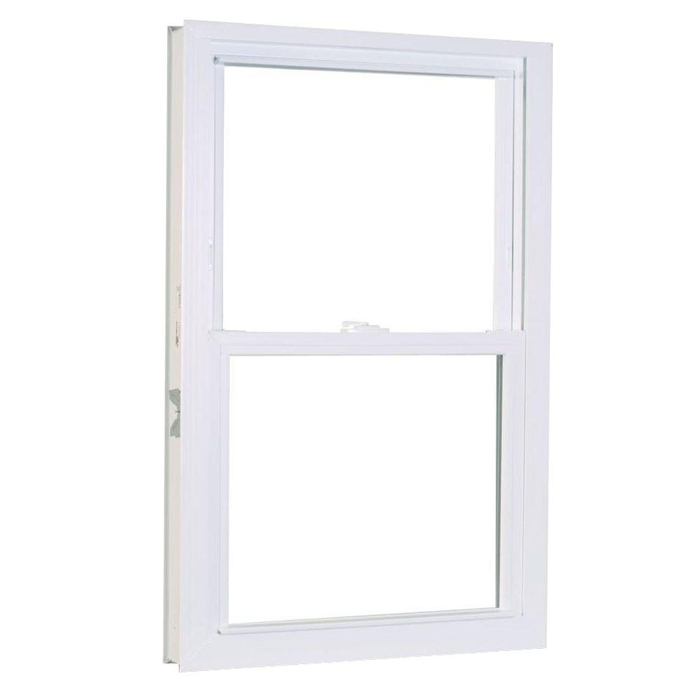 27.75 in. x 61.25 in. 1200 Series Double Hung Buck Vinyl