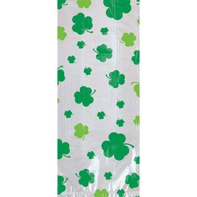 9.5 in. x 4 in. x 2.25 in. St. Patrick's Day Shamrock Cello Bags (20-Count, 7-Pack)