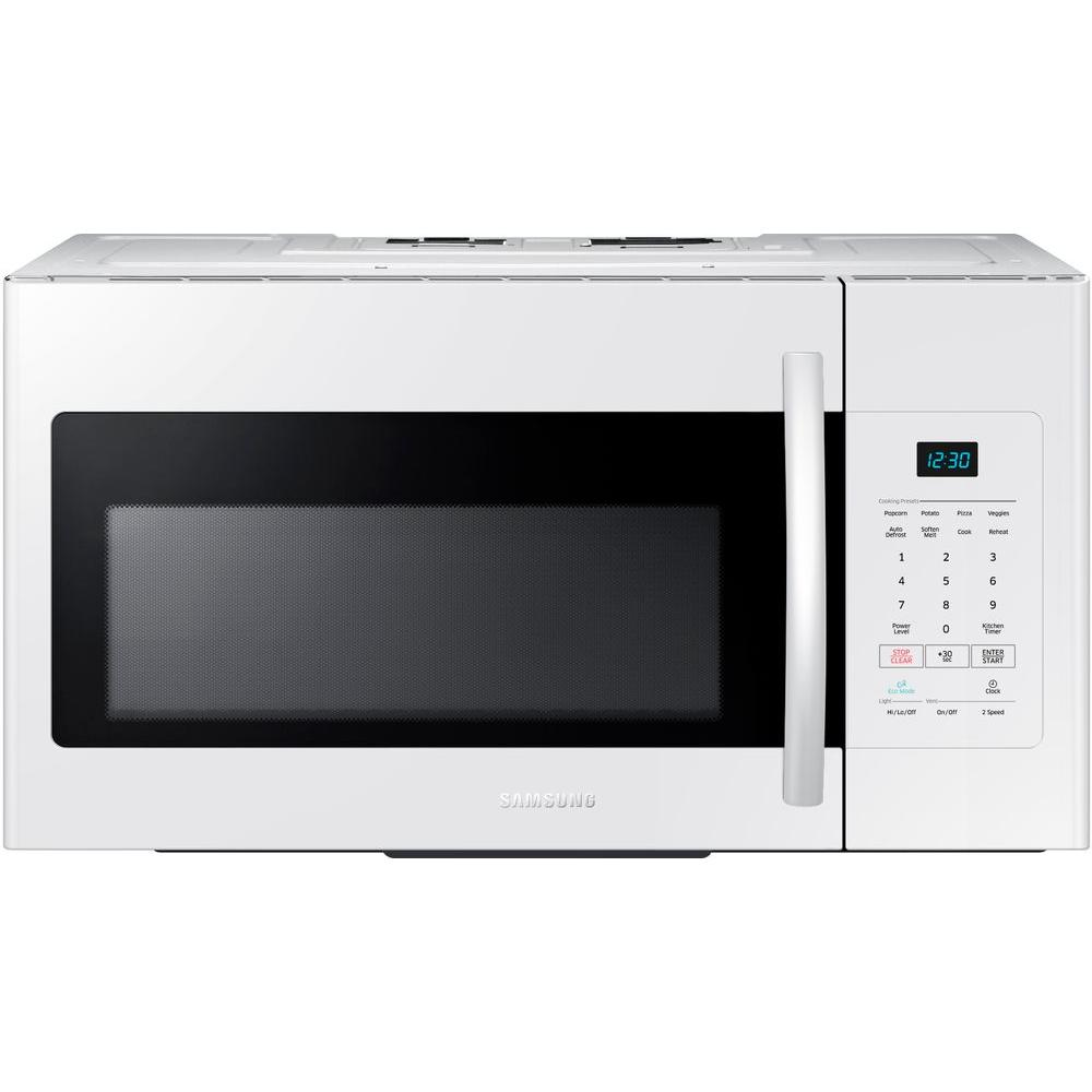 Samsung 30 in W 16 cu ft Over the Range Microwave in White
