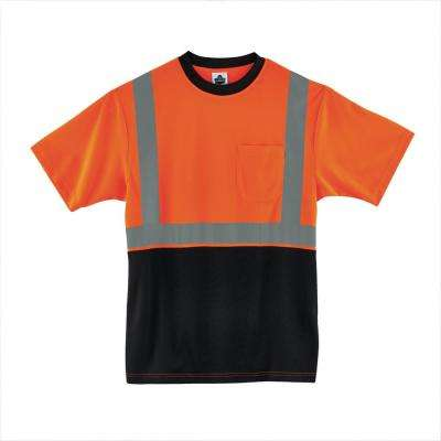 Large Hi Vis Orange Black Front T-Shirt