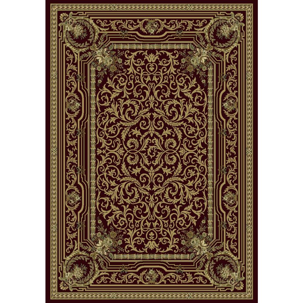 Bennett Burgundy 9 Ft. 2 In. X 12 Ft. 10 In. Indoor Area