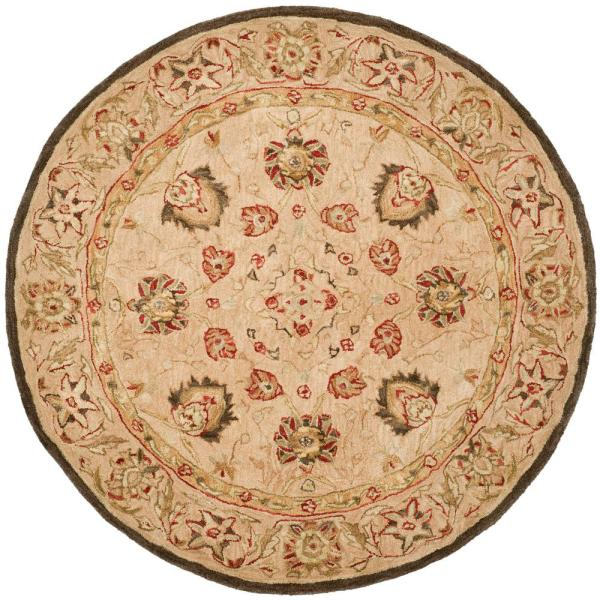 Safavieh Anatolia Beige 6 Ft X 6 Ft Round Area Rug An512a 6r The Home Depot