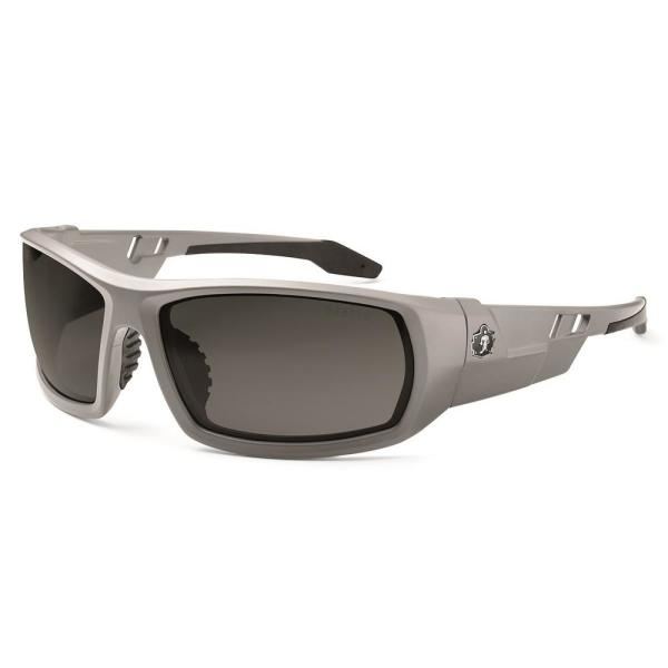 Skullerz Odin Matte Grey Frame Smoke Lens Safety Glasses