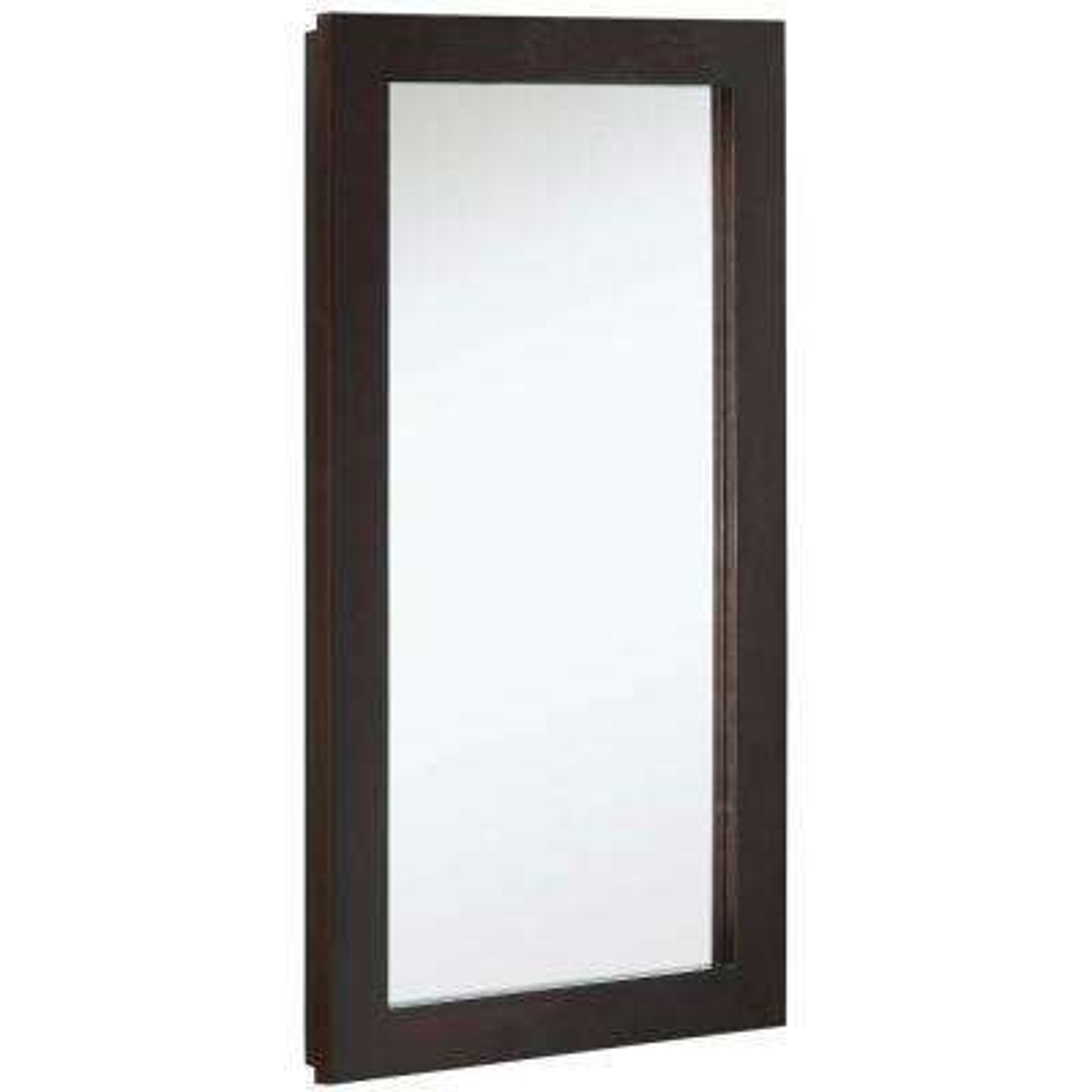 Ventura 16 in. W x 30 in. H x 5 in. D Framed Surface-Mount Bathroom Medicine Cabinet in Espresso
