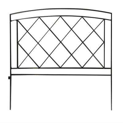 Salerno 24 in. Steel Garden Fence