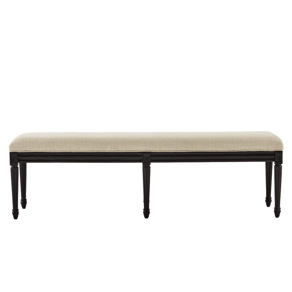Jacques Antique Black Bench