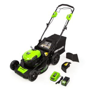21 in. 40-Volt Battery Cordless Self Propelled Lawn Mower with 5.0 Ah Lithium-Ion Battery and Quick Charger