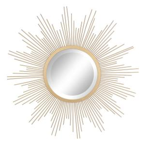 Wire Sunburst Antique Gold Decorative Mirror