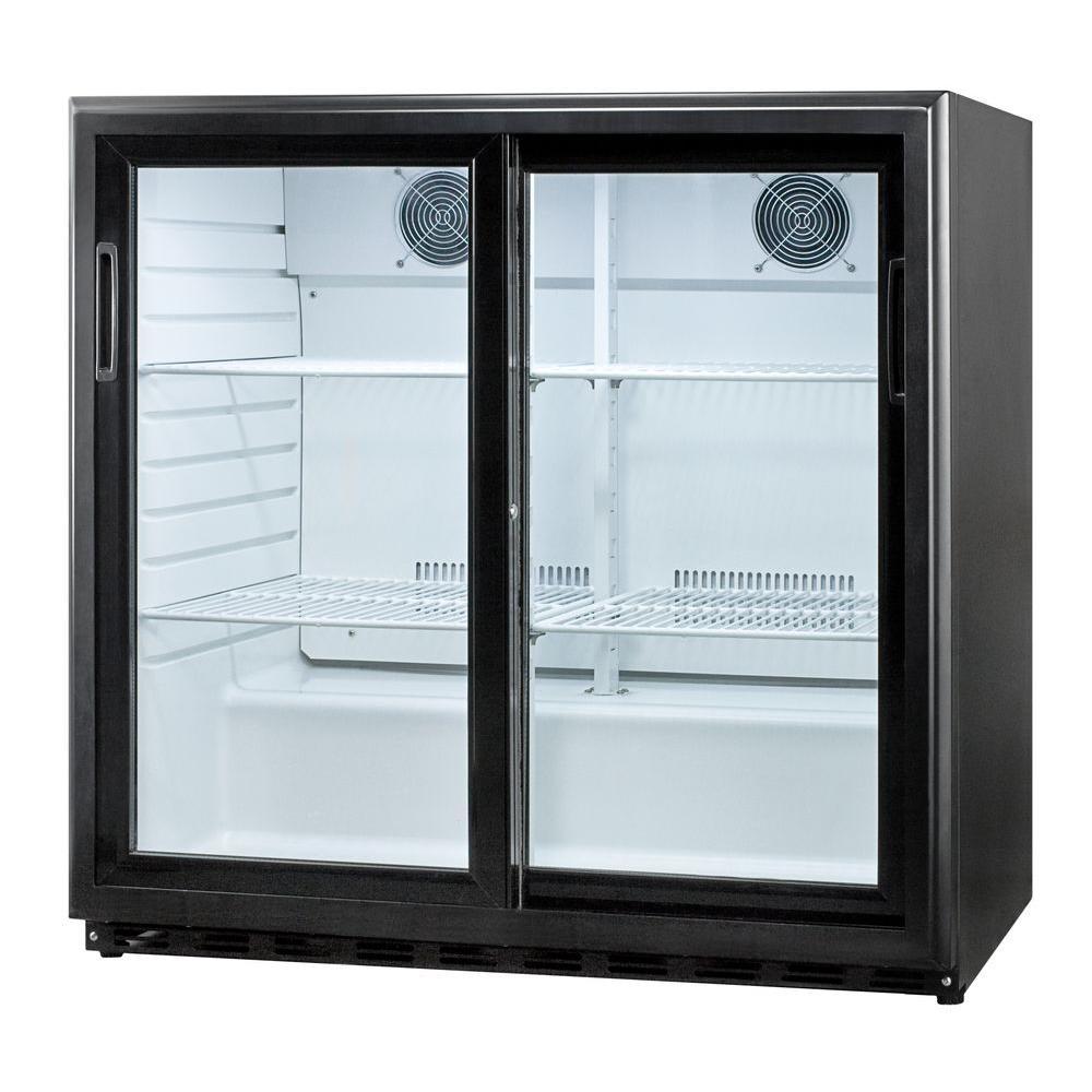 6.5 cu. ft. Sliding Glass Door All-Refrigerator in Black