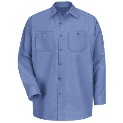 934d29fdb8 Berne Men s Extra Large Blue Cotton and Polyester Chambray Long ...