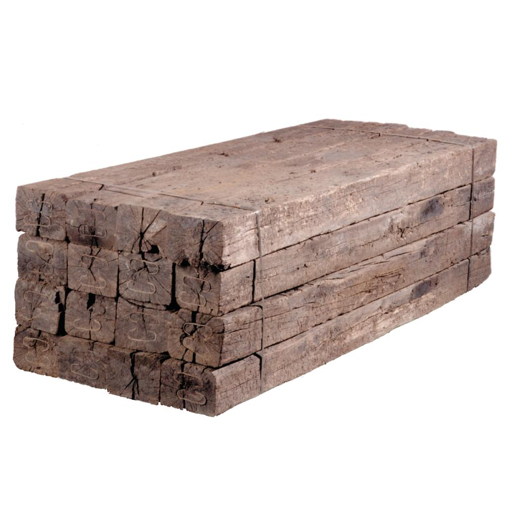 7 In X 9 In X 8 Ft 2 Railroad Cross Tie Timber 149818 The Home Depot