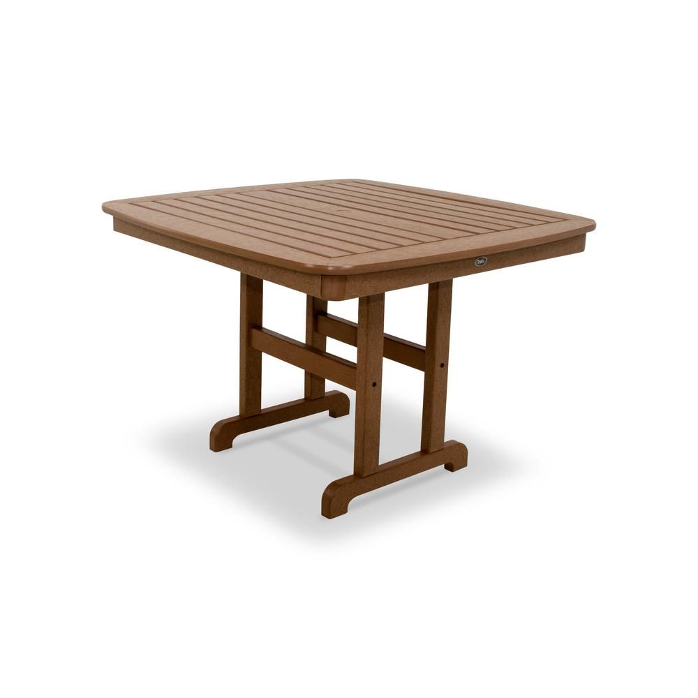 Trex Outdoor Furniture Yacht Club 44 in. Tree House Patio Dining Table