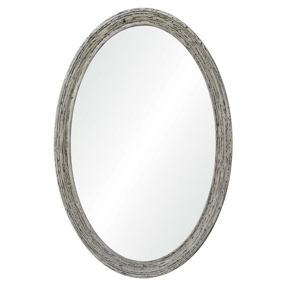 Ovalis 41.75 in. x 28 in. Framed Wall Mirror