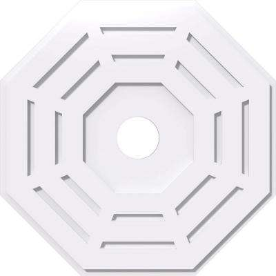 26 in. OD x 4 in. ID x 1 in. P Westin Architectural Grade PVC Contemporary Ceiling Medallion
