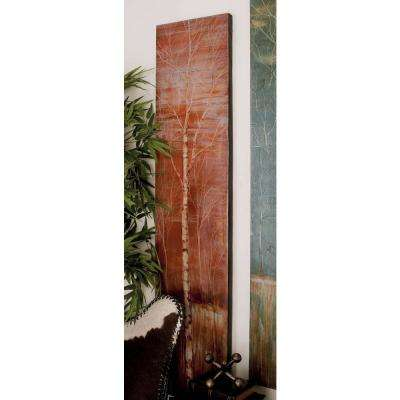 65 in. x 14 in. Leafless Birch Trees on Field Hand-Painted Framed Canvas Wall Art (Set of 2)
