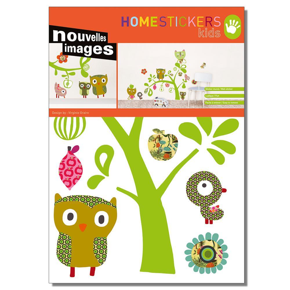 Multicolor Cats, Owls, Birds Home Sticker