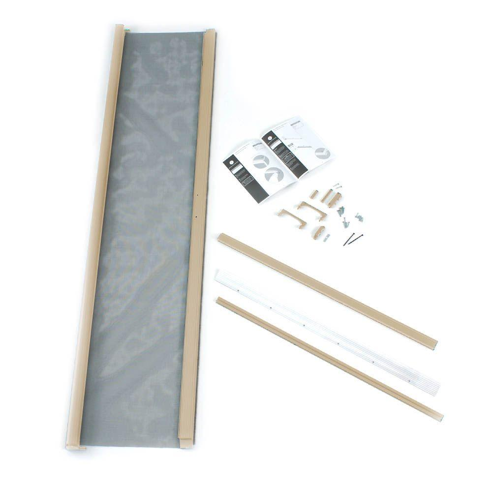 ODL Standard Height 36 in. x 80 in. Retractable Screen in Sandstone for Single Inswing Door-DISCONTINUED