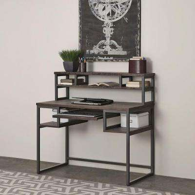 Barnside Gray Desk with Hutch