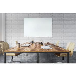 60 in. x 40 in. Magnetic Wall-Mounted Glass Board