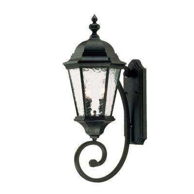 Telfair Collection 2-Light Matte Black Outdoor Wall-Mount Light Fixture