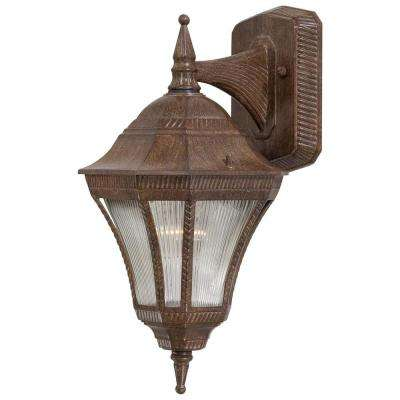 Segovia 1-Light Vintage Rust Outdoor Wall-Mount Lantern
