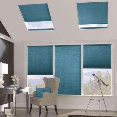 Cellular shades shades the home depot for Bali blinds motorized remote control