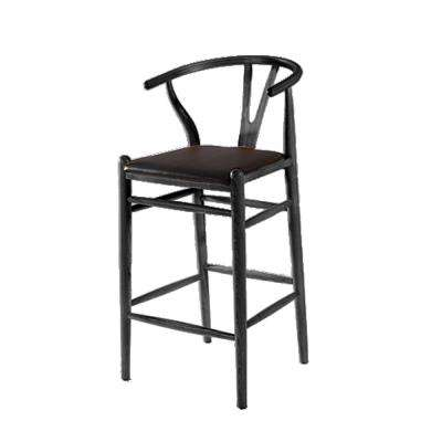 46 in. Black Woodstring Bar Stool Chair