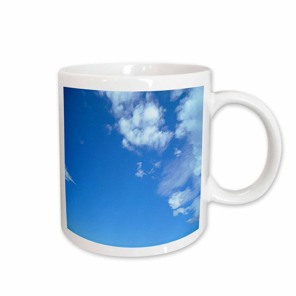Clouds 11 oz. White Ceramic Blue Sky and White Clouds Mug