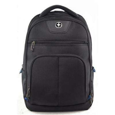 Varsity Collection MegaByte 18.5 in. Black Backpack