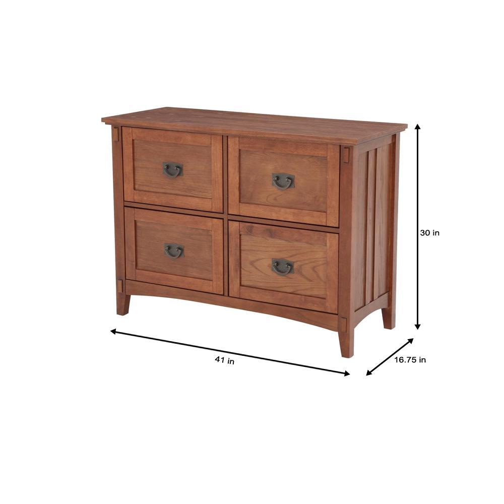 Home Decorators Collection Medium Oak 4 Drawer File