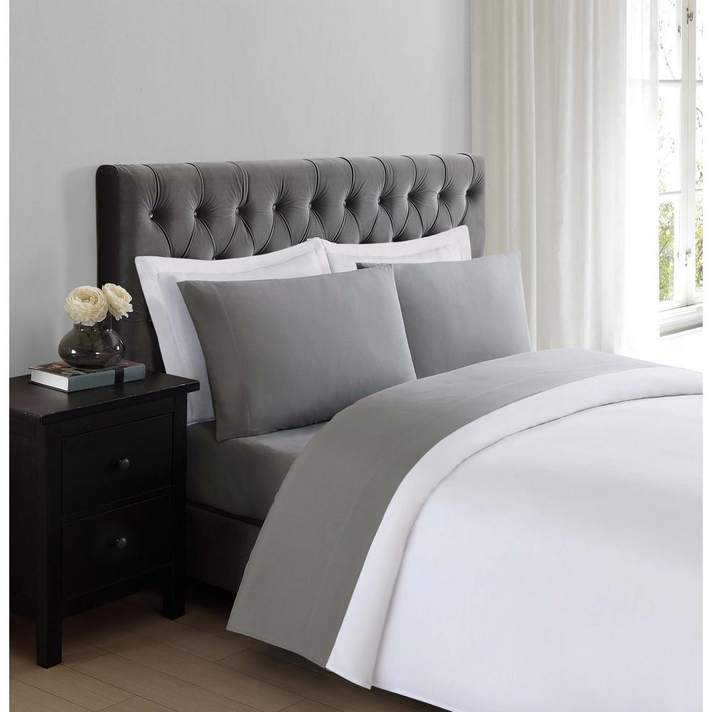 4 Piece Queen Sheet Set Deep Pockets Wrinkle Free Bed Sheets Everyday Soft  Grey