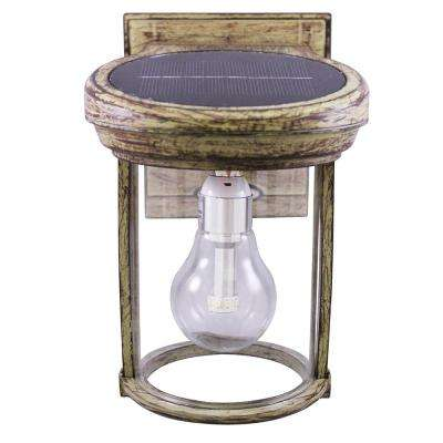 Solar Coach 1-Light Weathered Bronze Outdoor Wall Lantern