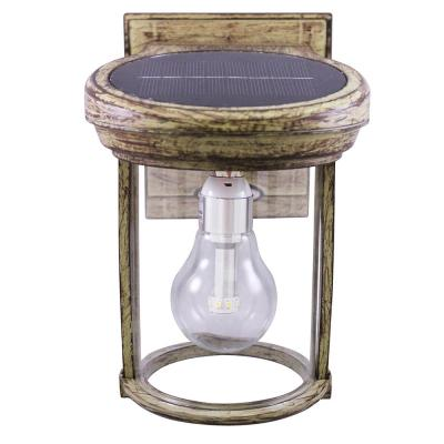 Solar Coach 1-Light Weathered Bronze Outdoor Wall Lantern Sconce
