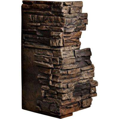 1-1/2 in. x 13-3/4 in. x 25 in. Java Urethane Stacked Stone Outer Corner Wall Panel