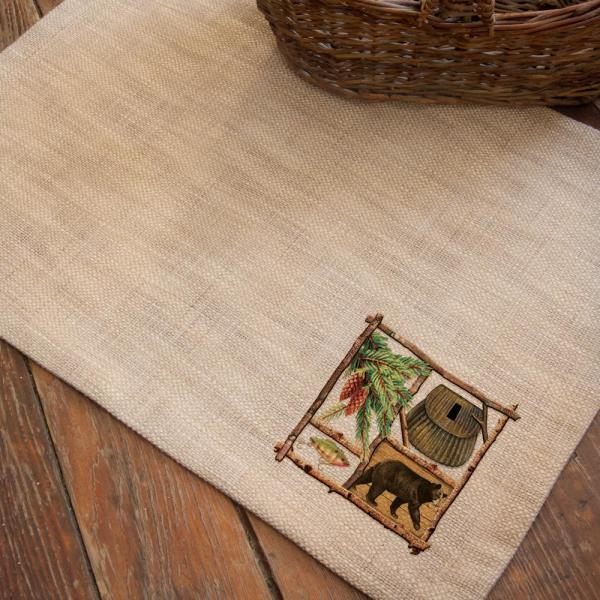 Lodge Hollow 14 in. x 20 in. Natural Placemat (Set of 4)