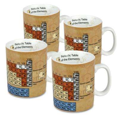 Konitz 4-Piece Mug of Knowledge Chemistry Porcelain Mug Set