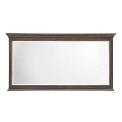Moorpark 60 in. W x 31 in. H Single Framed Wall Mirror in Burnished Walnut