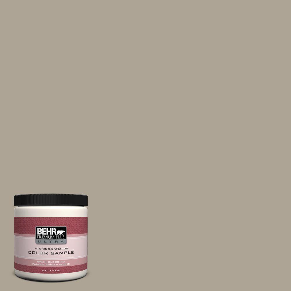 BEHR Premium Plus Ultra 8 oz. Home Decorators Collection Smoked Tan Interior/Exterior Paint Sample