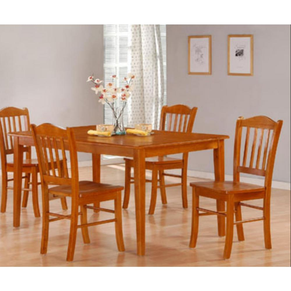 Oak Dining Room Furniture: Boraam 5-Piece Oak Dining Set-80136