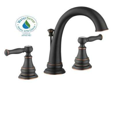 Fairway 4 in. Centerset 2-Handle High-Arc Bathroom Faucet in Bronze