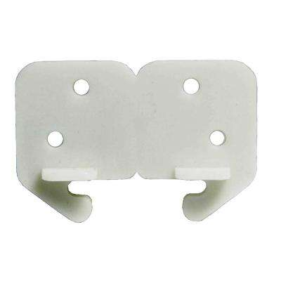 1-1/4 in. White Plastic Drawer Track Guide (2-Pack)