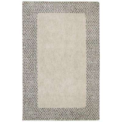 Spotted Border Gray 8 ft. x 10 ft. Area Rug
