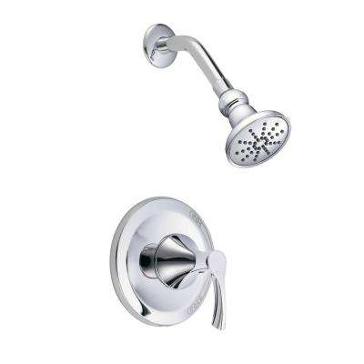 Antioch 1-Handle Top Mount Pressure Balance Trim Only Faucet in Chrome (Valve Not Included)