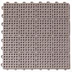 Patio Non-Slip 11.5 in. x 11.5 in. PVC Interlocking Outdoor Deck Tile in Gray (Case of 30)