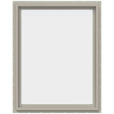 29.5 in. x 35.5 in. V-4500 Series Fixed Picture Vinyl Window - Tan